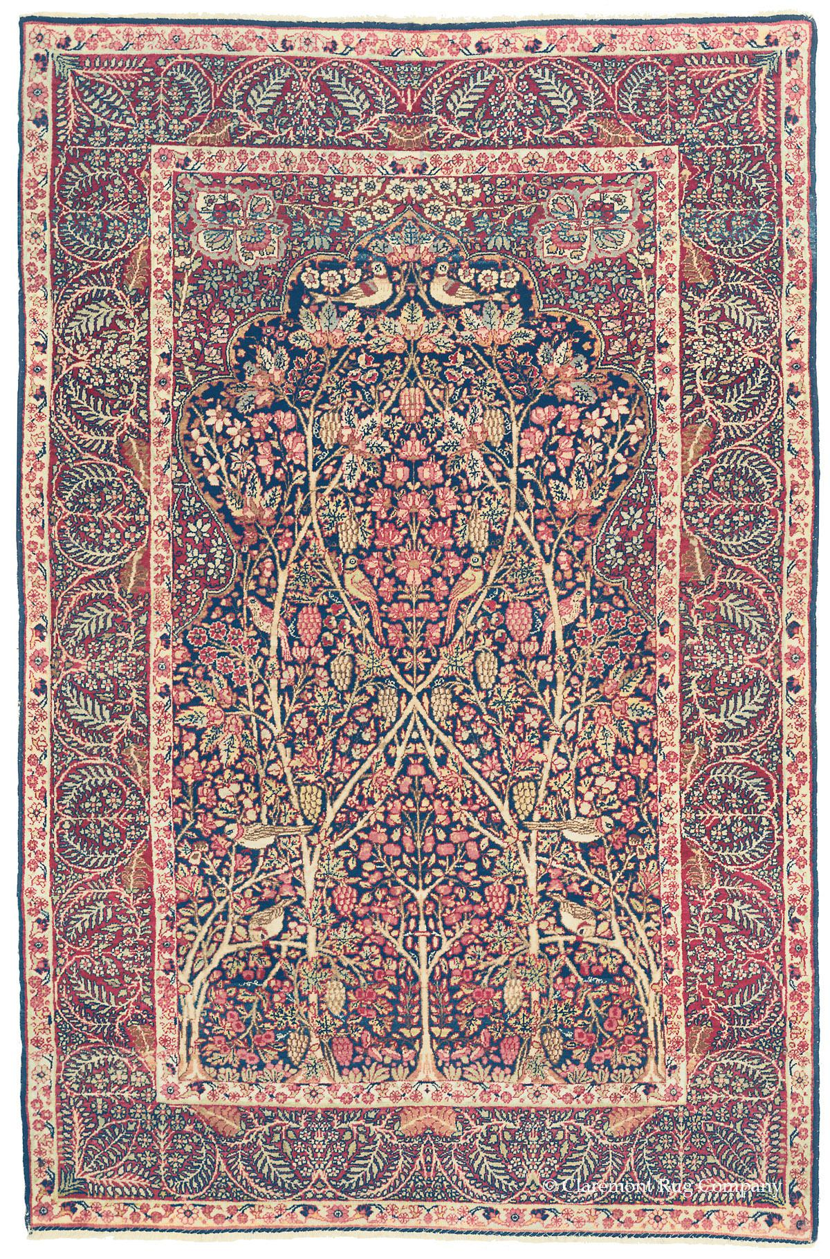 Laver Kirman Tree Of Life Southeast Persian Antique Rug Claremont Company